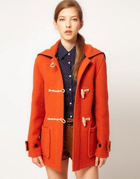 Image 1 ofGloverall Heritage Duffle Coat with Split Hood