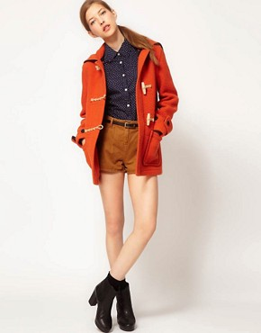 Image 4 ofGloverall Heritage Duffle Coat with Split Hood