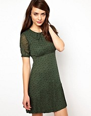 NW3 Horseshoe Print Dress with Collar
