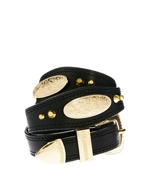 Image 1 ofASOS Western And Stud Waist Belt