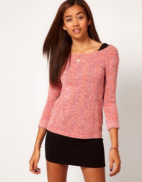 Image 1 ofRiver Island Speckled Sweat Top