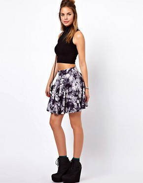 Image 1 ofGlamorous Mini Skater Skirt In Tie Dye