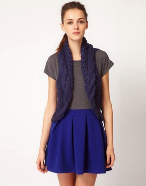 Image 1 ofGlamorous Knitted Cable Gilet