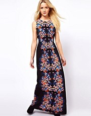 A Wear Floral Print Maxi Dress