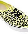 Image 2 of Vans Authentic Neon Yellow Leopard Sneakers