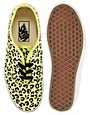 Image 3 of Vans Authentic Neon Yellow Leopard Sneakers