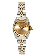 River Island Silver And Gold Mini Zoe Watch
