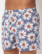 Hartford Sun Flower Swim Shorts