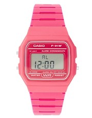 Casio  F-91WC-4AEF  Rosafarbene Digital-Armbanduhr