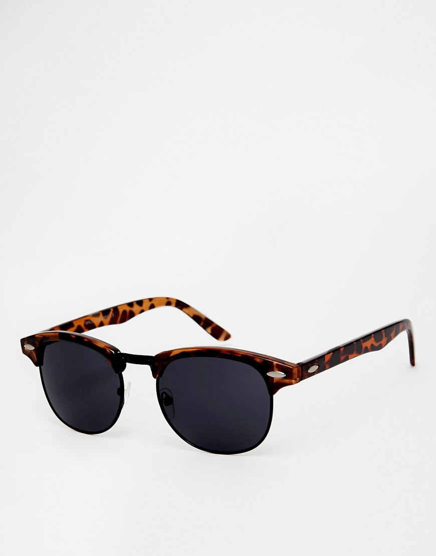 Image 1 of ASOS Retro Sunglasses With Black Lens