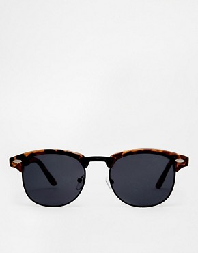 Image 2 ofASOS Clubmaster Sunglasses With Black Lens