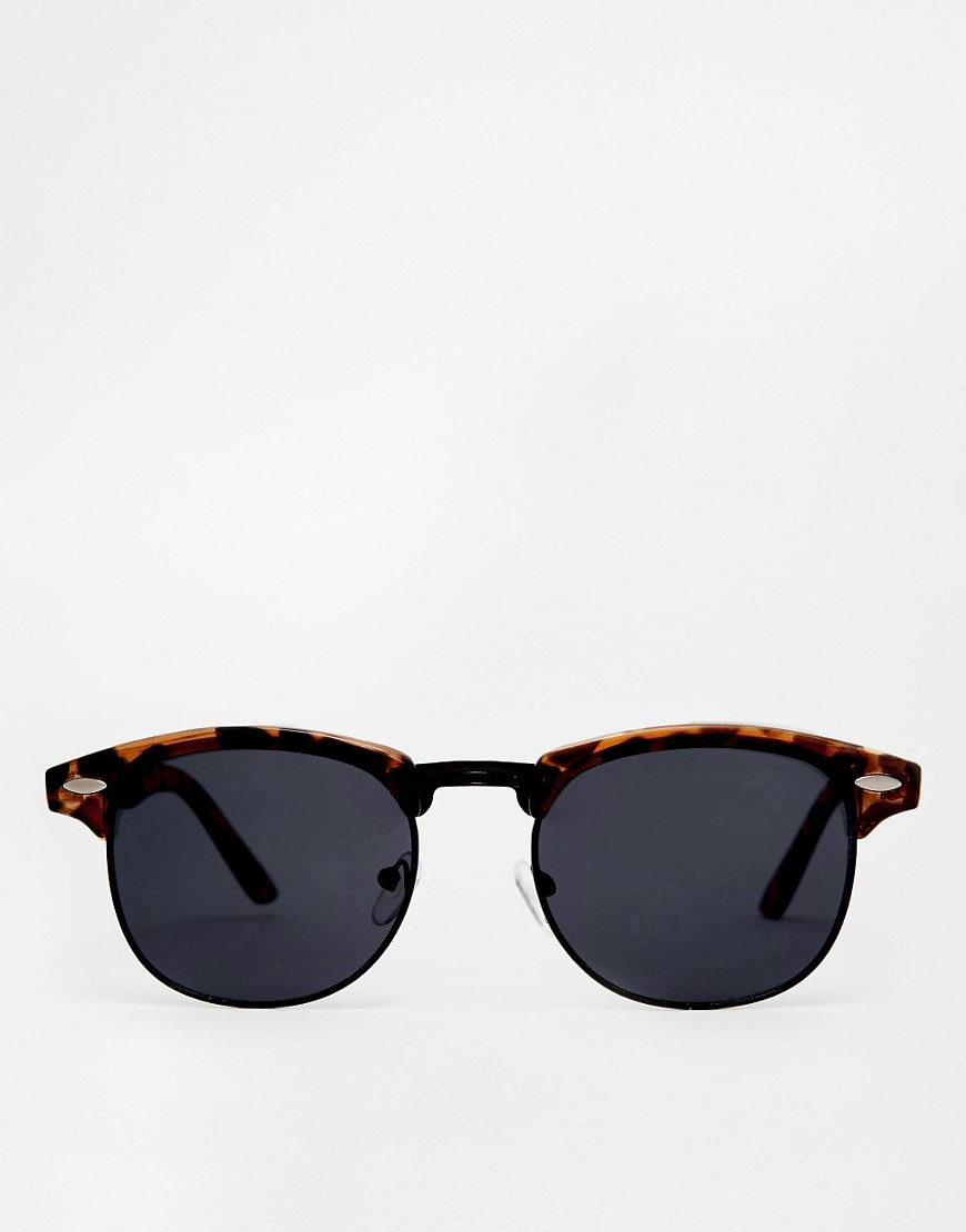 Image 2 of ASOS Retro Sunglasses With Black Lens