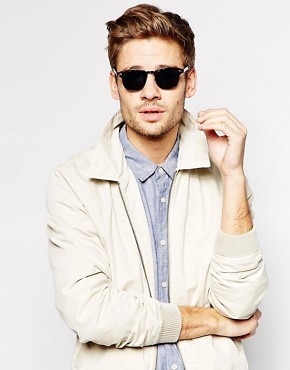 Image 3 ofASOS Clubmaster Sunglasses With Black Lens