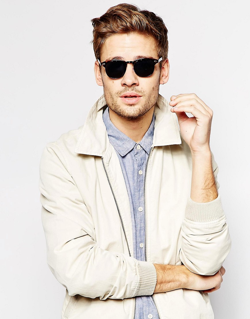 Image 3 of ASOS Retro Sunglasses With Black Lens
