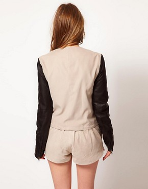 Image 2 ofGestuz Jacket with Faux Leather Sleeves