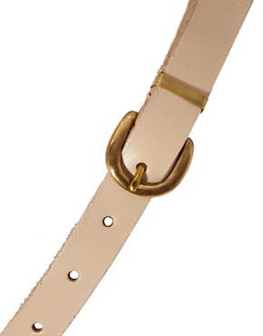 Image 2 ofASOS Leather Skinny Link Detail Waist Belt
