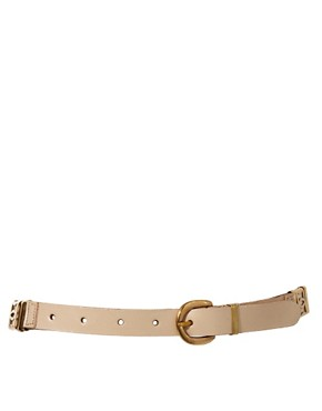 Image 3 ofASOS Leather Skinny Link Detail Waist Belt