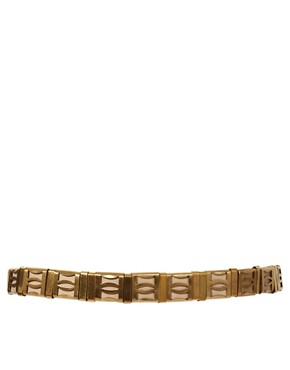 Image 1 ofASOS Leather Skinny Link Detail Waist Belt