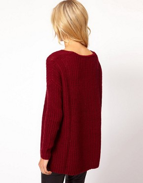 Image 2 ofMango Chunky Knit Slouch Jumper