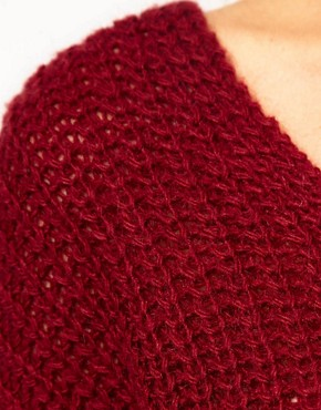 Image 3 ofMango Chunky Knit Slouch Jumper