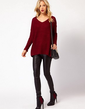 Image 4 ofMango Chunky Knit Slouch Jumper