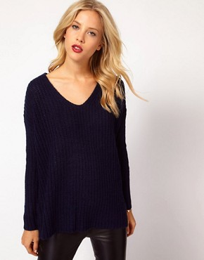 Image 1 ofMango Chunky Knit Slouch Jumper