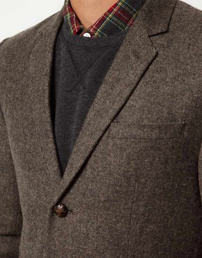 Image 3 ofASOS Slim Fit Tweed Blazer