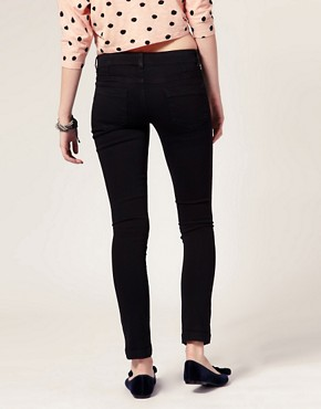Image 2 ofASOS PETITE Supersoft Skinny Jeans In Black #11