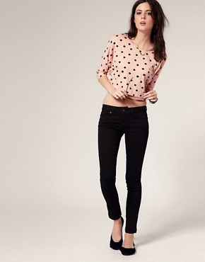 Image 4 ofASOS PETITE Supersoft Skinny Jeans In Black #11