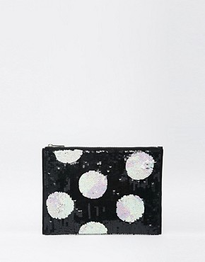 ASOS Spot Embellished Clutch Bag