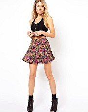 ASOS Skater in Ditsy Smudge Print