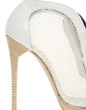 Image 2 of Pollini for Preen Mesh Lace Up Heeled Shoe Boots