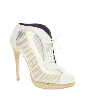 Image 1 of Pollini for Preen Mesh Lace Up Heeled Shoe Boots