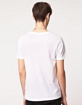 Image 2 of ASOS T-Shirt With Flag Print