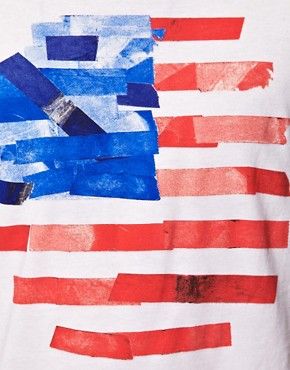 Image 3 of ASOS T-Shirt With Flag Print