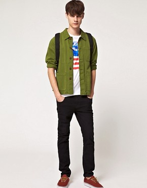 Image 4 of ASOS T-Shirt With Flag Print