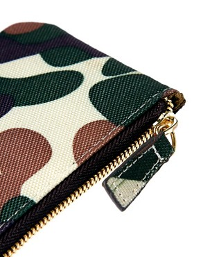 Image 3 ofASOS Zip around Wallet in Camo Fabric