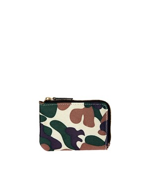 Image 1 ofASOS Zip around Wallet in Camo Fabric