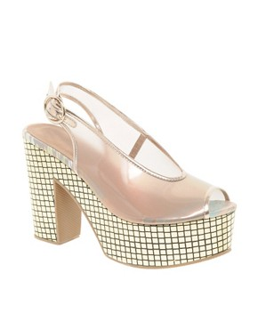 Image 1 ofASOS HALO Platform High Sandals With Peep Toe