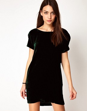 Image 1 ofGanni Silk Velvet Dress with Low Back