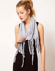 Nali Knotted Fringed Scarf
