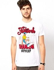 Franklin &amp; Marshall T-Shirt with Breakdancer Graphic