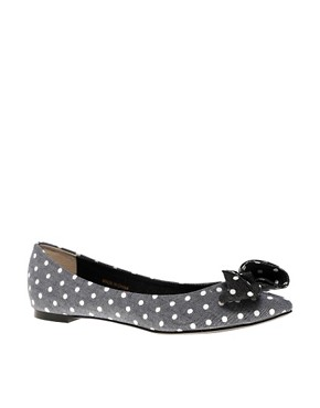 Image 1 ofASOS LOCO Spot Bow Ballet Shoes