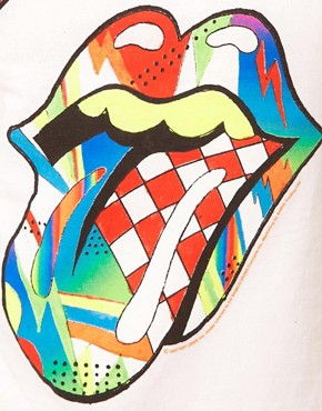 Image 3 ofAmplified The Rolling Stones Neon Tongue T-Shirt