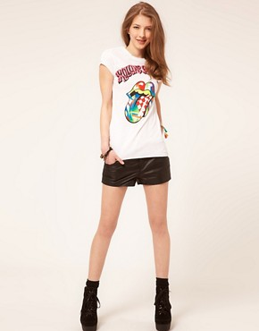 Image 4 ofAmplified The Rolling Stones Neon Tongue T-Shirt
