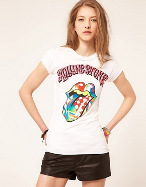 Image 1 ofAmplified The Rolling Stones Neon Tongue T-Shirt