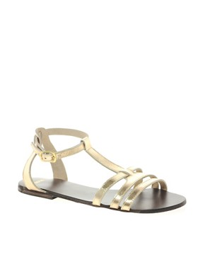 Image 1 ofASOS FLORENCE Leather Flat Sandals
