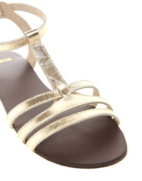 Image 4 ofASOS FLORENCE Leather Flat Sandals
