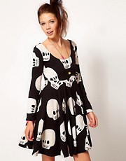 Lazy Oaf Skull Skater Dress