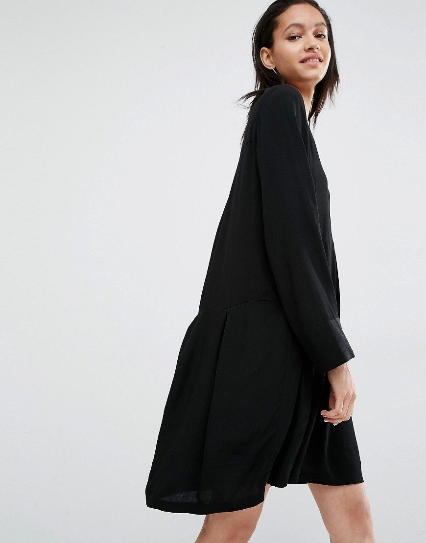 Just Female Laura Smock Dress - Black
